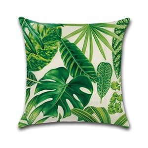 Other - Green Leaves Throw Pillow Case